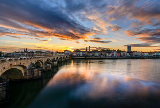 Фото бесплатно Франция, город, Сона река