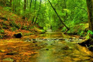 Заставки Конечно, река, камни