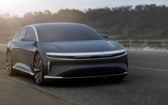 Photo free Lucid Air, electric sedan, luxury cars