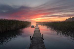 Фото бесплатно небо, озеро, Wharf