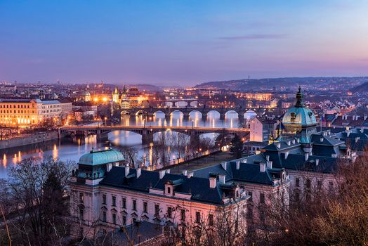 Заставки Прага, ночные города, Чехия