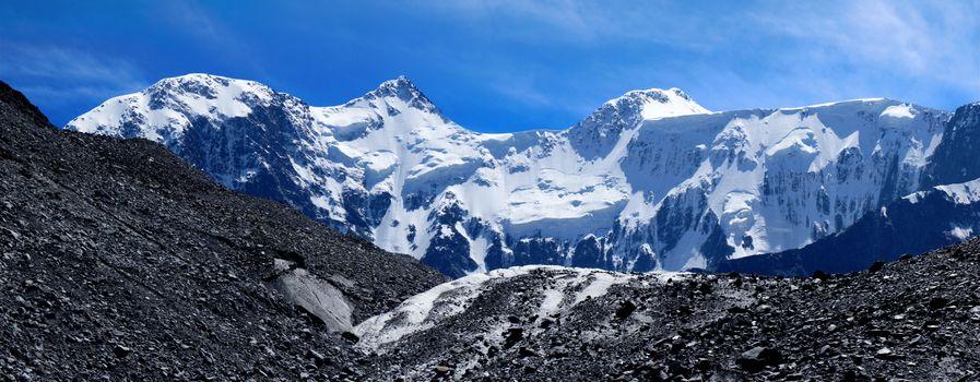 Заставки горный пейзаж, снег, простор