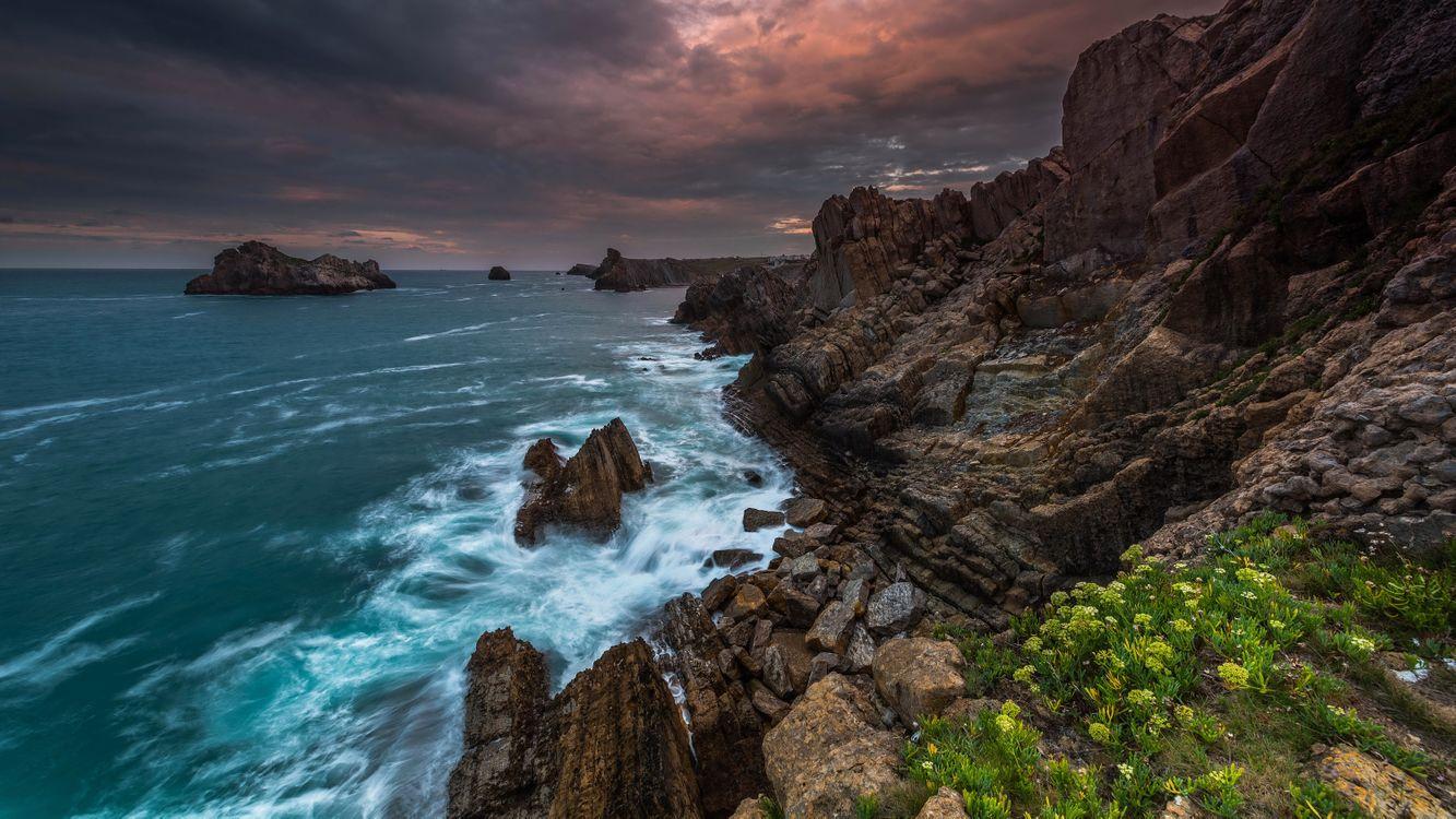 Потемнело синее море · бесплатное фото