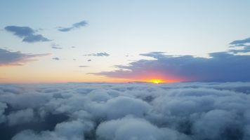 Фото бесплатно облако, закат, небо