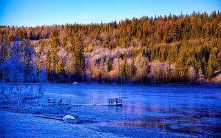 Бесплатные фото Sj bysj n,Kramfors,Sweden,осень,озеро,лодка,причал