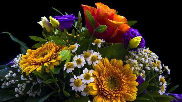 Фото бесплатно праздничный букет, цветочный, красочный