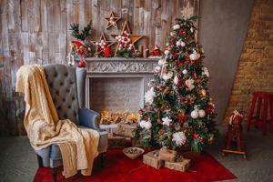 Фото бесплатно новый год, новогодняя ёлка, комната