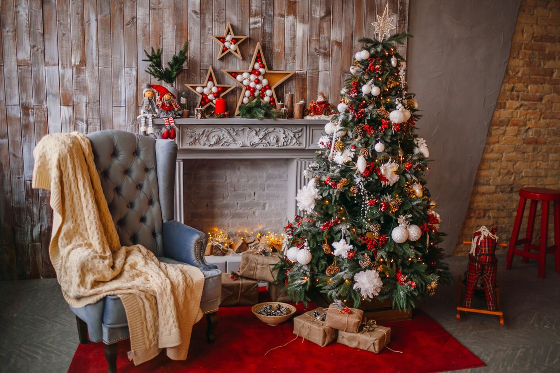 Фото бесплатно дизайн, новогодние украшения, новогодние обои - на рабочий стол