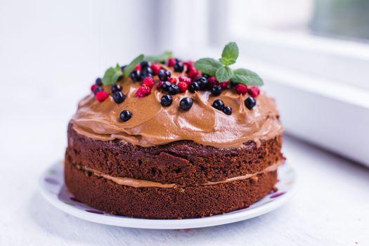 Фото бесплатно торт, крем, шоколадный