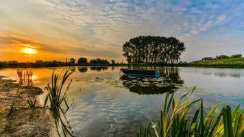 Фото бесплатно лодка, небо, пейзаж