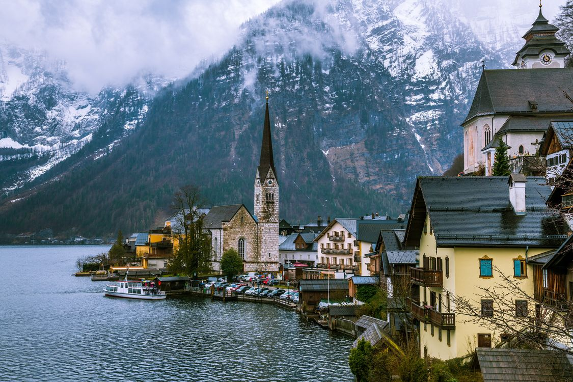 Фото бесплатно Hallstatt, часовня, Хальштатт, Гальштат, Австрия, озеро Хальштаттерзее, город, пейзаж, город