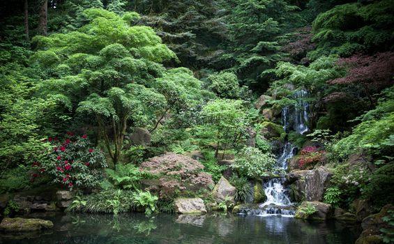 Photo free Portland, Japanese Garden, Oregon