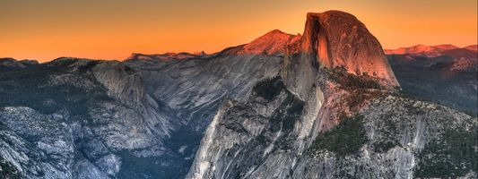 Фото бесплатно горы, вершина, закат