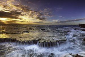 Фото бесплатно море, водопад, океанские волны