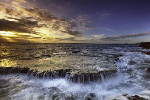 Заставки море, водопад, океанские волны