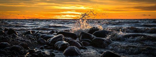 Бесплатные фото пляж,рассвет,пейзаж,длительное воздействие,океан,панорамный,горные породы
