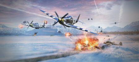 Фото бесплатно War Thunder, P-51 Mustang, art