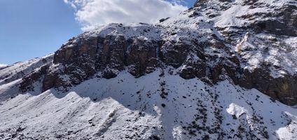 Заставки лед,снег,обрыв,темно,облако,холм,гора