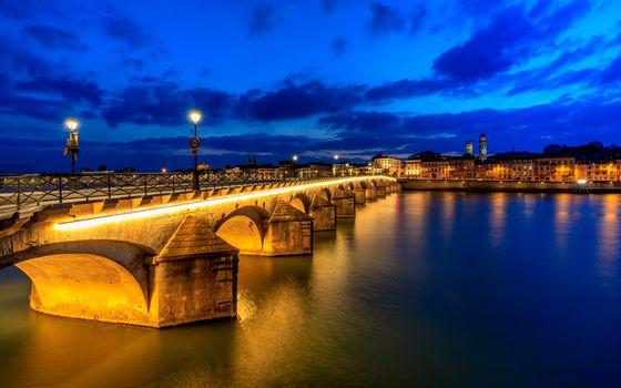 Фото бесплатно Франция, ночной город, ночь