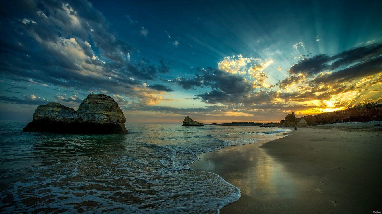 Фото бесплатно побережье, скалы, закат - на рабочий стол