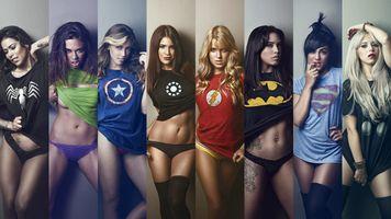 Заставки супергерой, пижамы, футболки