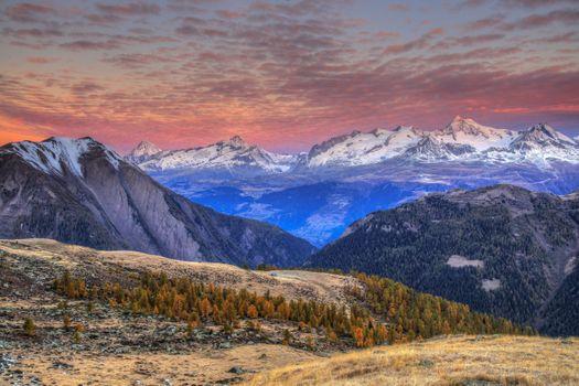 Бесплатные фото Binntal,Wallis,Schweiz,Биннталь,Вале,Швейцария,горы,небо,закат,пейзаж