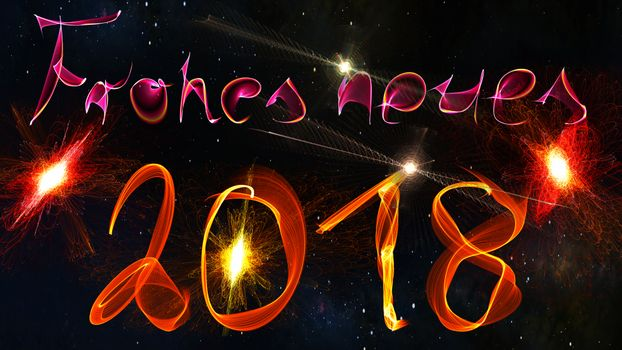 Photo free Happy New 2018, abstraction, background