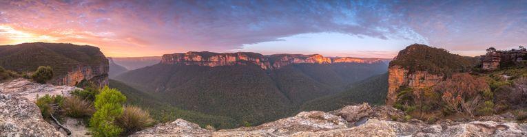 Фото бесплатно восход, синий, горы