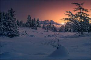 Photo free sunset, Sibelalem, Hohentauern Styria