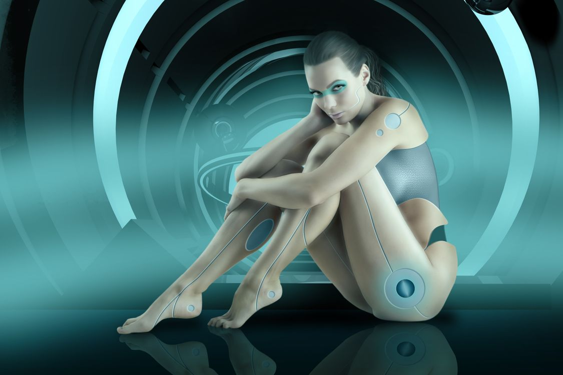 Кибер-девушка · бесплатное фото