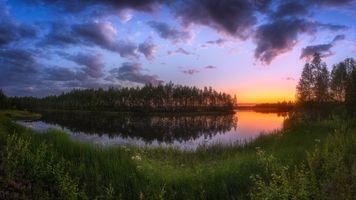 Летний закат в Финляндии