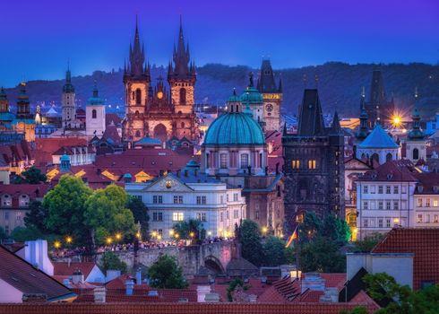 Фото бесплатно Прага, сумерки, город