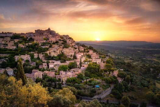 Бесплатные фото Прованс,Франция,закат,город,городской пейзаж