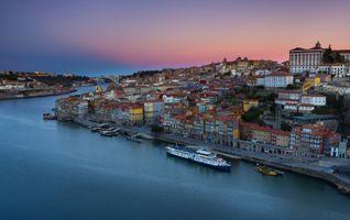 Бесплатные фото Порту,Португалия,закат,город,сумерки