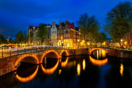 Photo free Amsterdam, Netherlands, night