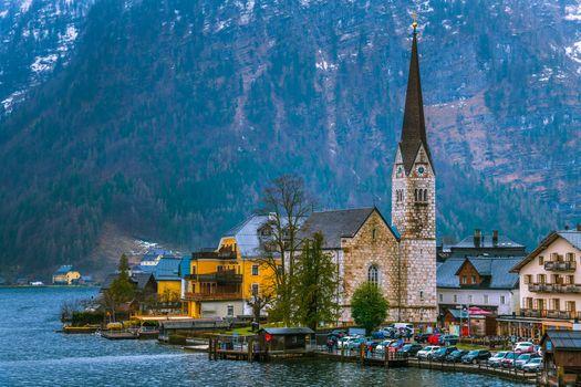 Заставки город, озеро Hallstatter See, Hallstatt