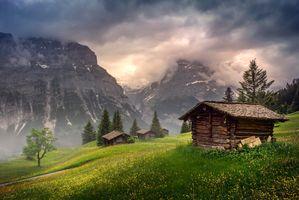 Фото бесплатно трава, пейзаж, горы