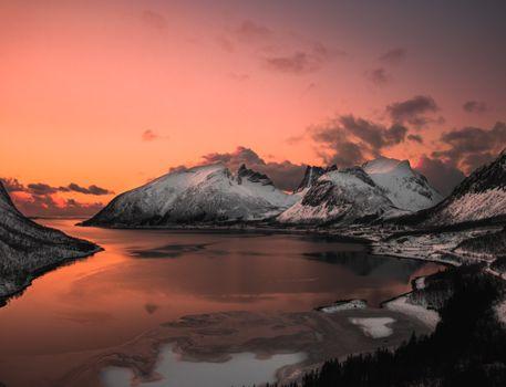 Фото бесплатно утро, река, горы