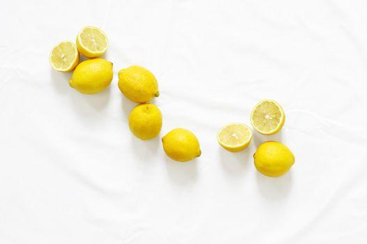 Фото бесплатно лимоны, фрукты, половинки