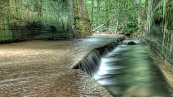 Фото бесплатно водопад, природа, лес