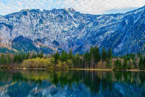Бесплатные фото Зальцкаммергут,Австрия,озеро,горы,природа,осень,лес