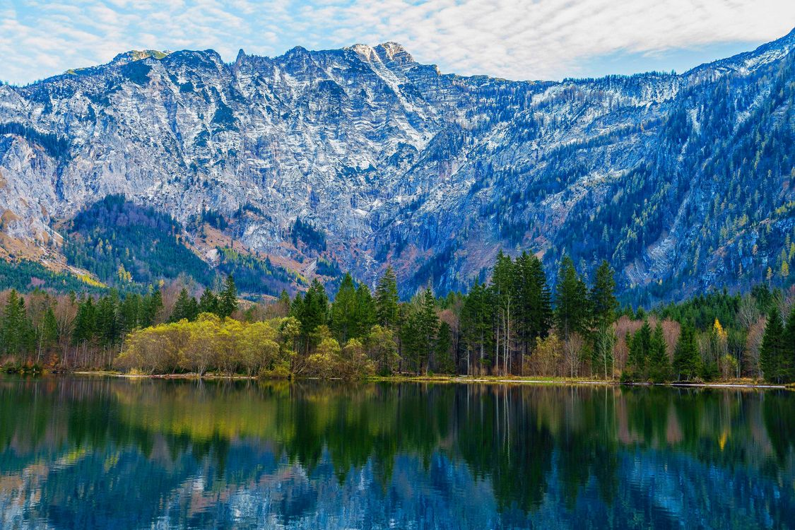 Фото бесплатно Зальцкаммергут, Австрия, озеро, горы, природа, осень, лес, деревья, пейзаж, пейзажи
