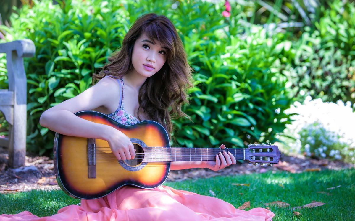 Фото бесплатно настроение, музыка, гитара - на рабочий стол