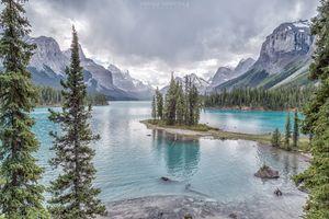 Бесплатные фото Maligne Lake,Остров Духа,Озеро Малинье,Национальный парк Джаспер,Spirit Island,Jasper National Park,Альберта
