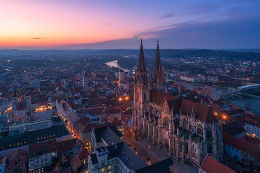 Photo free Regensburg, Germany, city night