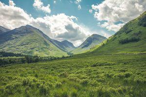 Фото бесплатно облака, трава, луг