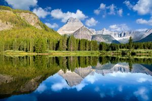 Фото бесплатно озеро Жозефина, горы, озеро