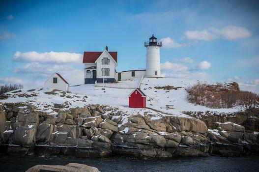 Бесплатные фото lighthouse,Nubble Light,York,Maine,USA