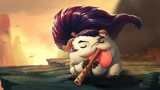 Photo free League of Legends, poro, flute