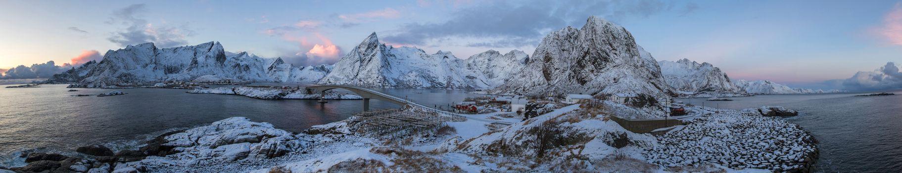 Бесплатные фото Норвегия,Лофотенские острова,панорама